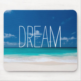 Dream of White Beachs and Blue Skies Mouse Mat