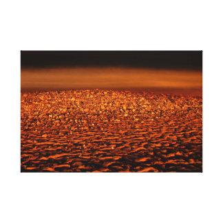 Dream on the beach at night canvas print