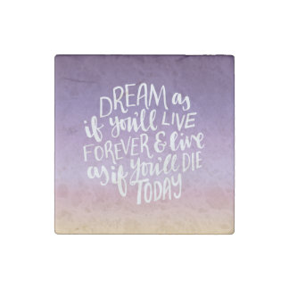 Dream Quote Marble Stone Magnets, Individual Stone Magnet