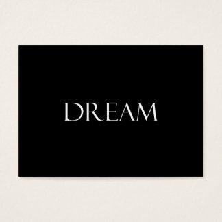 Dream Quotes Inspirational Quote Business Card