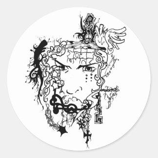 dream round sticker