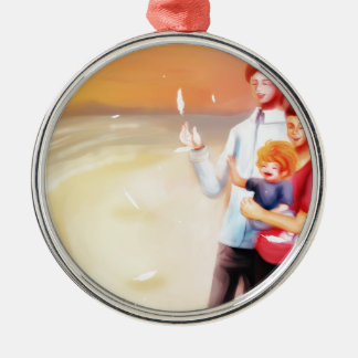 Dream Scene Family on the Beach Christmas Ornament