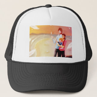 Dream Scene Family on the Beach Trucker Hat