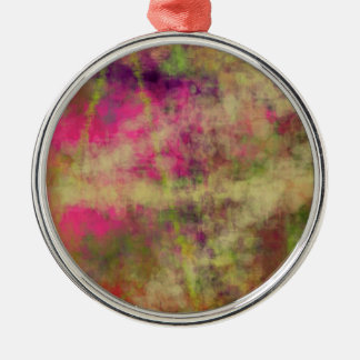 Dream Scope Color Abstract Art on GIFTS NavinJoshi Silver-Colored Round Decoration