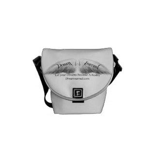Dream Surreal - White Angel Wings - Mini Messenger Messenger Bag
