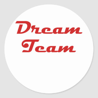 Dream Team Classic Round Sticker
