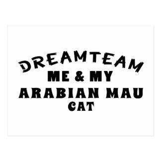 Dream Team Me And My Arabian Mau Cat Post Card