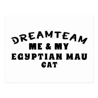 Dream Team Me And My Egyptian Mau Cat Postcard