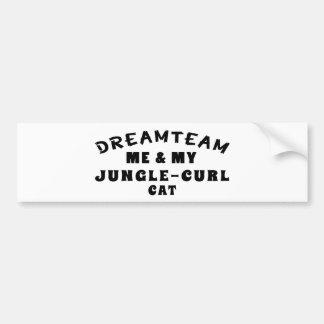 Dream Team Me And My Jungle-curl Cat Bumper Sticker