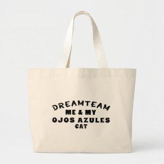 Dream Team Me And My Ojos Azules Cat Canvas Bag