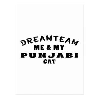 Dream Team Me And My Punjabi Cat Postcard