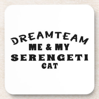 Dream Team Me And My Serengeti Cat Beverage Coaster