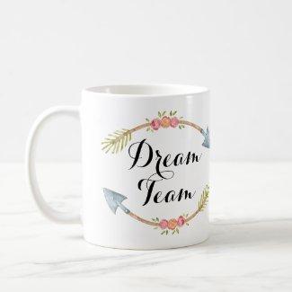 'Dream Team' Watercolor Tribal Arrows Coffee Mug