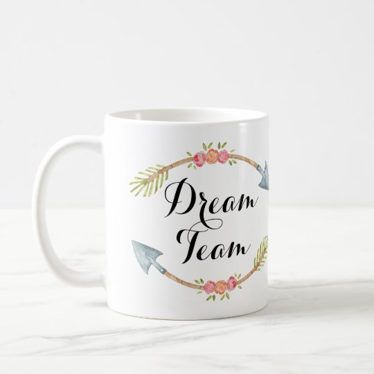 'Dream Team' Watercolor Tribal Arrows Coffee Mug