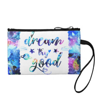 Dream. Try. Do Good. Coin Purse