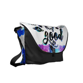 Dream. Try. Do Good. Messenger Bag