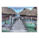 Dream Vacation Bora Bora Overwater Bungalows Greeting Card