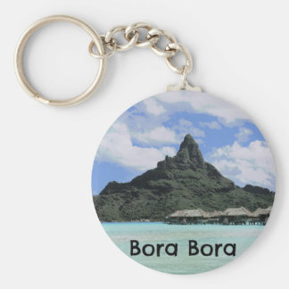 Dream Vacation Bora Bora Tahiti Atoll Formation Key Ring