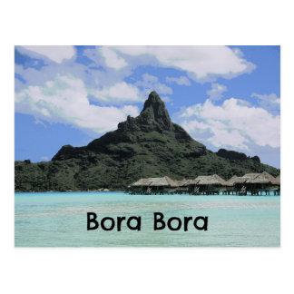 Dream Vacation Bora Bora Tahiti Atoll Formation Postcard