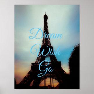 Dream Wish Go Poster Print