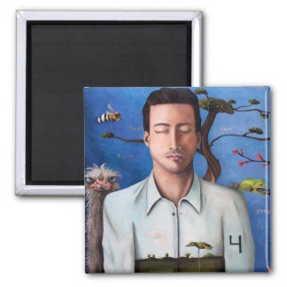 Dream Within A Dream 2 Square Magnet