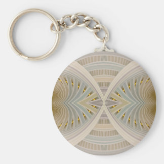 Dream Within A Dream Pastel Abstract Chevrons Basic Round Button Key Ring