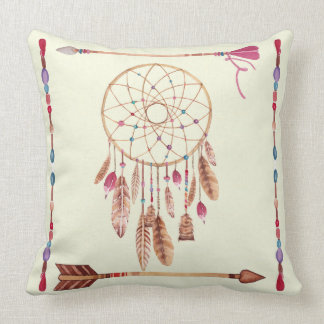 Dreamcatcher Arrows and Beads Native Theme Large Cushion