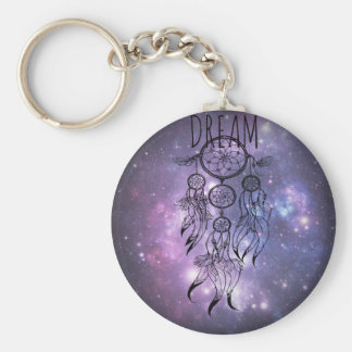 Dreamcatcher Basic Round Button Key Ring