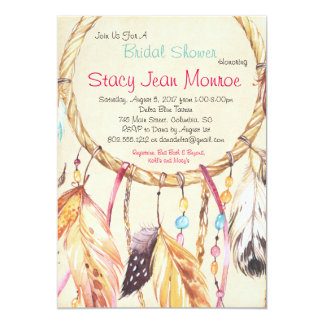 Dreamcatcher Bridal Shower Invitation 5x7 Boho
