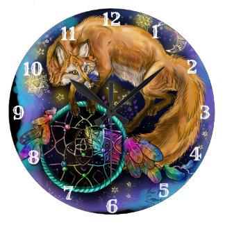 Dreamcatcher Fox Large Clock