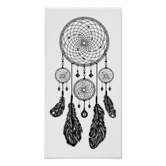 Dreamcatcher - Poster (White)