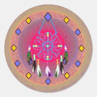 Dreamcatcher Rose Classic Round Sticker