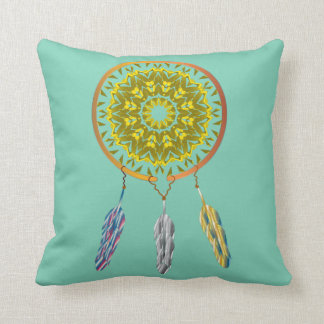 Dreamcatcher with Feathers Cushion