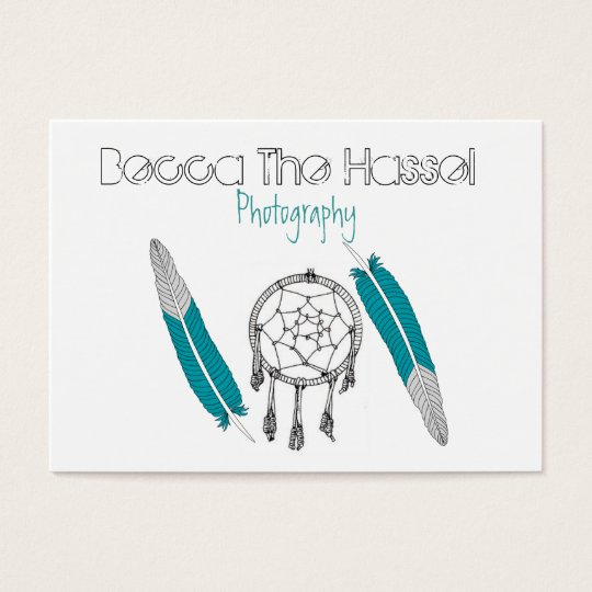 Dreamcatchers and feathers business card