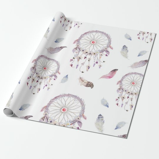 Dreamcatchers & Feathers Gift Wrapping Paper
