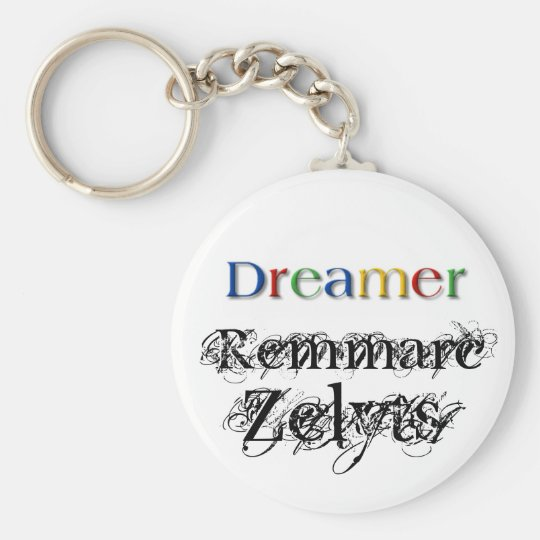 Dreamer Basic Round Button Key Ring