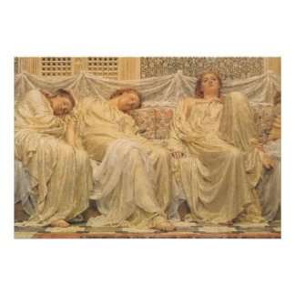 Dreamers by Albert Joseph Moore, Victorian Art Poster