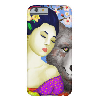 Dreamer's Guardian Geisha and Totem Wolf Barely There iPhone 6 Case