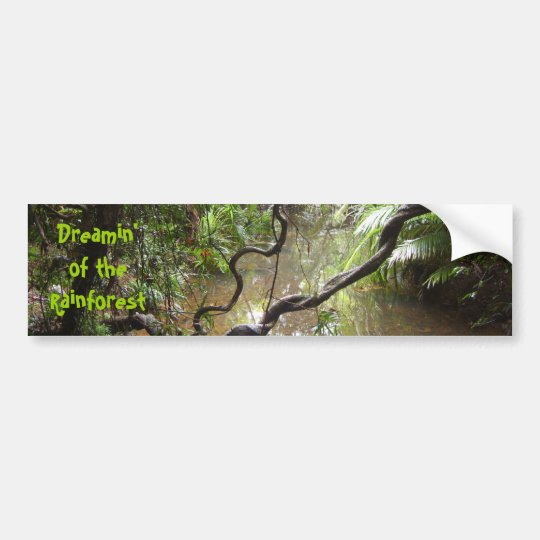 Dreamin' of  the Rainforest Bumper Sticker