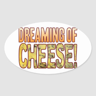 Dreaming Blue Cheese Oval Sticker