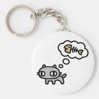 Dreaming Cat Key Ring