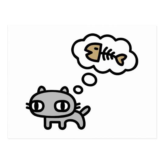 Dreaming Cat Postcard