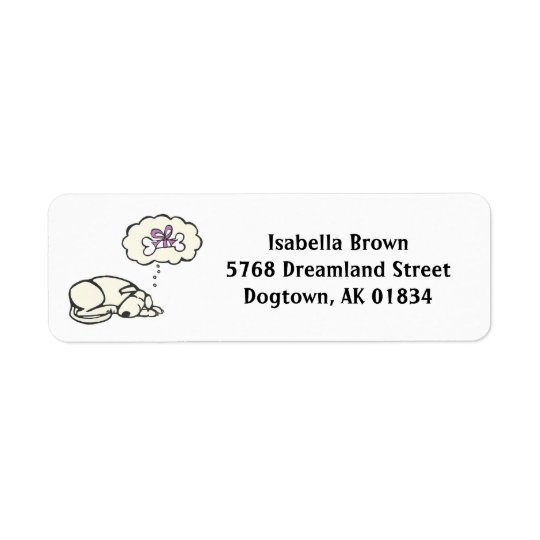 Dreaming Dog Return Address Labels