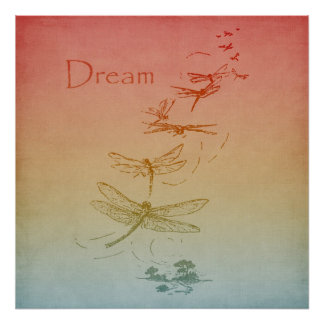 Dreaming Dragonflies Poster