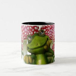 Dreaming Frog Two-Tone Mug
