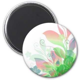 Dreaming in Flowers 2 6 Cm Round Magnet