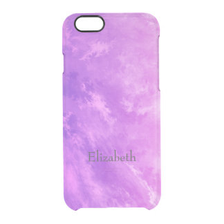 Dreaming in Pink Abstract Clear iPhone 6/6S Case
