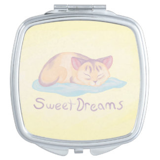 Dreaming Kitten Compact Mirrors