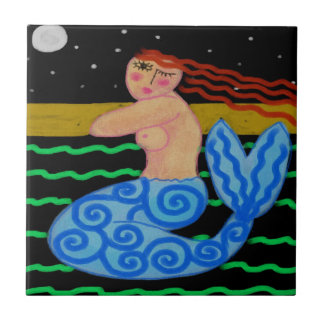 Dreaming Mermaid Tile
