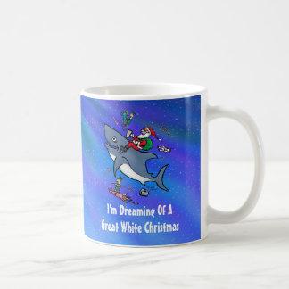 Dreaming Of A Great White Shark Christmas Coffee Mug